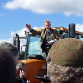 Auctioneer Simon Evans at the Crostwight sale 620x465