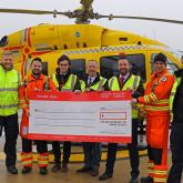 Arnolds Keys cheque presentation to East Anglian Air Ambulance 2018 web