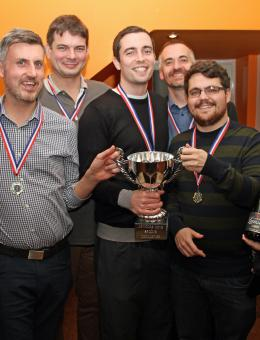 The victorious Larking Gowen team in the 2015 Arnolds Keys Sports Challange