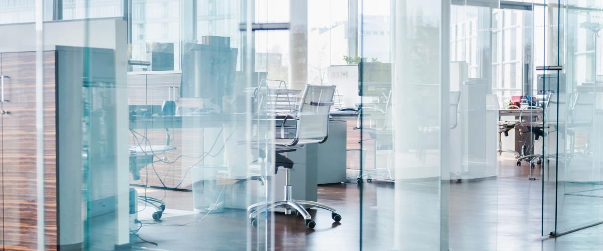 glass office space